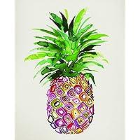 "Summer Thornton ""Pineapple"" Canvas Print, Cotton, Multi-Colour, 3.20 x 40.00 x 50.00 cm"