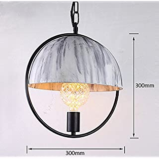 Artcraft Lighting Mini lamp Retro Industrial Style Concrete Steel Ring lamp Art Fashion Environmental Protection Cement lamp (Color : Multi-Colored)
