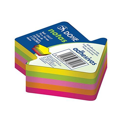 dohe-75017-pack-de-250-cubos-de-notas-adhesivas-en-forma-de-flecha-70-x-70-mm