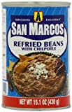 San Marcos Refried Beans with Chilpotle 430 g (Pack of 4)
