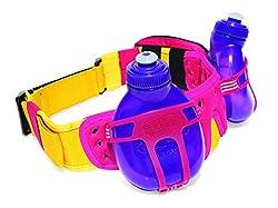 FuelBelt R2O Revenge Hydration Belt, One Size/Pink/Yellow