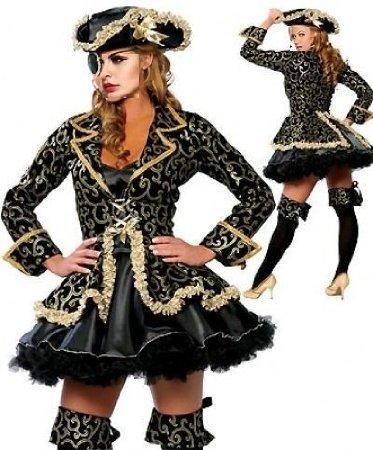 Burlesque Box Deluxe Piraten Damen Kostüm Sexy Fancy Dress Hen Party Damen Erwachsene Outfit