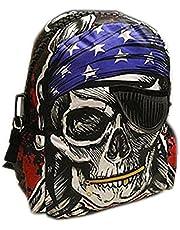 Magnusdeal Pirate Skull Backpacks Back to School Laptop Bag