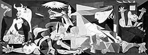 Pablo Picasso, Ruiz titulo :  Guernica, lithographie de technique moderne cmts Papier 65 x 50. BFK Rives Filigrane (100) edition Numered Crayon signé pr.???/100