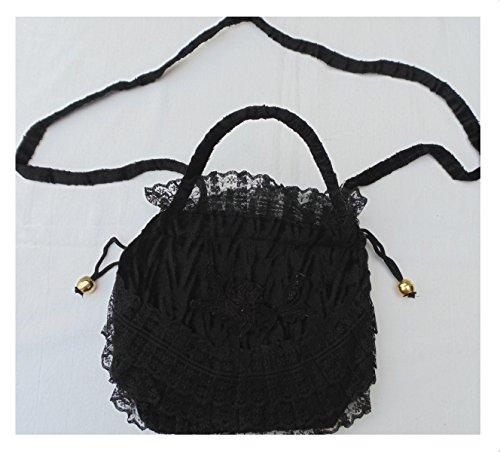 Rüschenbeutel Chloe Tasche Old Style Western bordeaux schwarz beige Spitze schwarz
