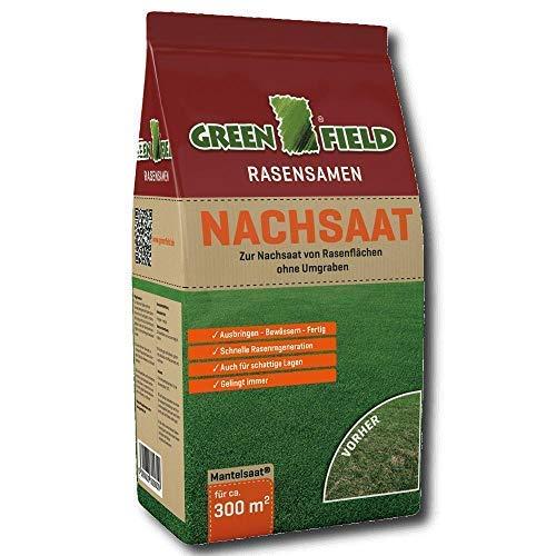 Greenfield Nachsaat Rasensamen 5 kg Mantelsaat Gras Samen Rasen Saat 300 m²