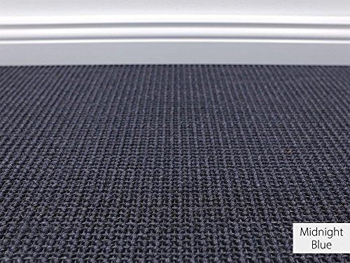 Die HEVO® Sisal Naturfaser Kollektion - Manolo Sisal Teppichboden in 5 Farben - Inkl. 2% HEVO® Bestellgutschein -Midnight Blue