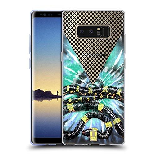 Head Case Designs Schlange Batik Kravatte Und Vermaschte Drucke Soft Gel Hülle für Samsung Galaxy Note8 / Note 8