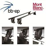 Mont Blanc Premium Acero Baca/Last portaequipajes para Seat Toledo 5puertas Hatchback con normalem techo a partir de año 2004hasta 2009–Sistema de baca Completo montado en cartón (Incluye Protec tono cristal Toallitas antivaho y