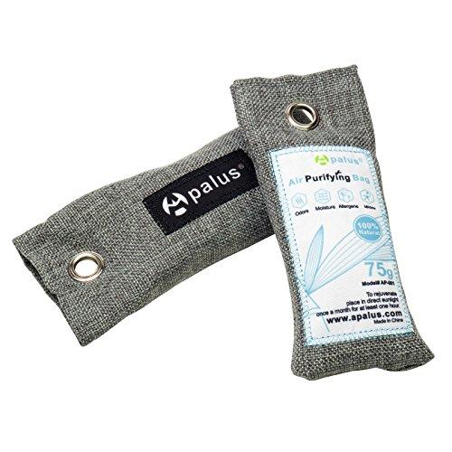 APALUS Schuh-Erfrischer | Luftreiniger Beutel Aus Bambus Aktivkohle, Der Natürliche Lufterfrischer & Raumerfrischer Ist der perfekte Geruchsneutralisierer für Schuhe, Schrank und Sporttasche