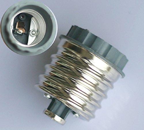 Preisvergleich Produktbild 2x E40 auf E27 LED Halogen Licht Glühbirnen Sockel Adapter Konverter