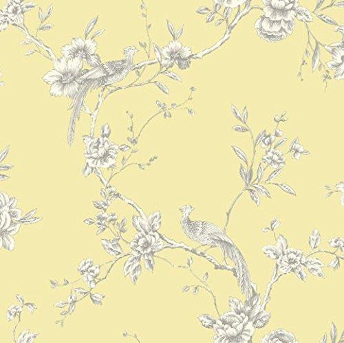 yellow-422804-chinoise-floral-bird-arthouse-opera-wallpaper