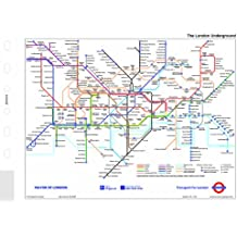 Filofax Pocket - Plano del metro de Londres para agenda, plegable