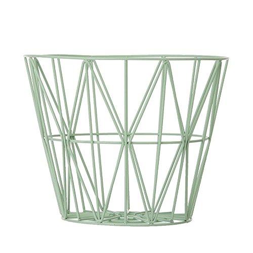 bewahrungskorb Wire Basket - Rose - Large Mint / aus dem Korb kann mit einer Tischplatte ein Beistelltisch werden (Mint Grün Rosen)