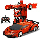 DOMENICO Fantasy Plastic 1:14 Scale Remote Controlled One Button Car Converting Lamborgini Style Transformer (Multicolour)