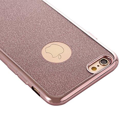 Für IPhone 6 Plus / 6s Plus, Galvanisierendes Blitzpulver TPU Schutzhülle DEXING ( Color : Pink ) Pink