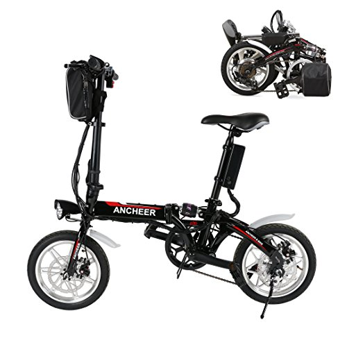 Coorun 14 Zoll Elektrofahrrad E-Bike E-Faltrad Klappfahrrad 36V 10AH 250W Klappbar 35Km/H Citybike mit Elektromotor