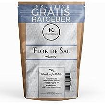 Flor de Sal 250g Flockensalz | Fleur de Sel Salz Flocken aus Portugal inkl. gratis Ratgeber | grobes naturbelassenes Meersalz unbehandeltes Natursalz