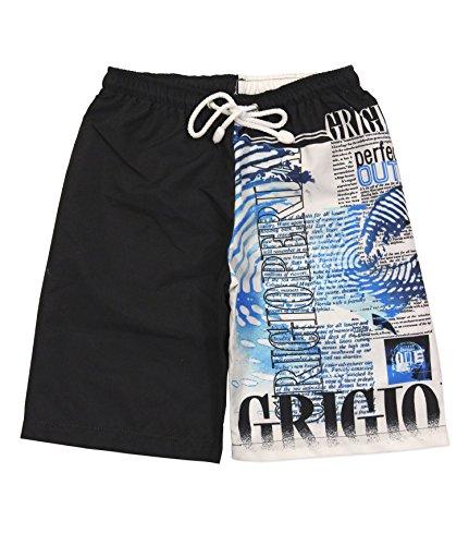 Grigio perla shorts bambino s Nero/bianco/bluette
