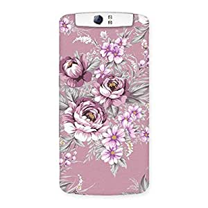 Neo World Pink Flowers Back Case Cover for Oppo N1