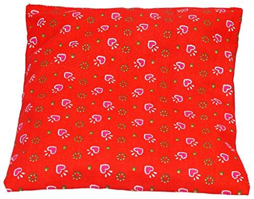 SchwarzwaldArt Kirschkernkissen mit Trachtenmuster (24x24cm, mit rotem Trachtenmuster)