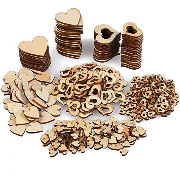 50pcs Herz Holzscheiben 50 Eisen Loops Set F/ür Birthday Reminder H/ängen Holztafel Brett DIY Kalender Zubeh/ör