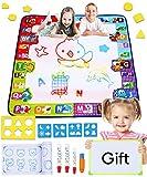 Smarkids Wasser Zeichnen Matte Spielzeug für Kleinkind 7 Farben großes Maß Aqua Magic Doodle Malmatte Malenlernen Ausbildungswerzeuge Geschenke für Kinder Mädchen Jung emit Whiteboard