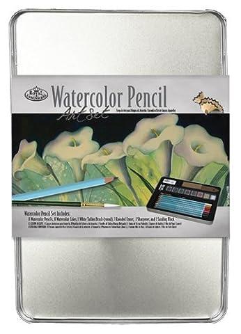 Royal & Langnickel Medium Tin Watercolor Pencil Art Set by Royal & Langnickel