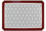 Homankit Alfombra de silicona para hornear sin palo / Estera de macarrones / Estera para galletas, Bandeja para hornear Borgona | 29.5x42cm Superficie blanca para media hoja | Reutilizable, flexible, antiadherente, fácil de limpiar el forro de la hoja de hornear | Healthy Cooking Mat, libre de BPA y FDA y LFGB
