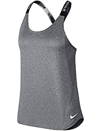 Nike Dry Training Tank, Camiseta de Mujer, Color Carbon Heather/White, Talla