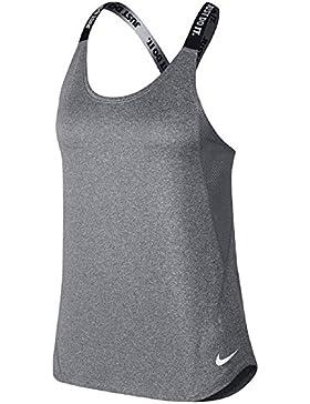 Nike Dry Training Tank, Camiseta de Mujer, Color Carbon Heather/White, Talla XL