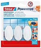 tesa 57533-00016-01 Powerstrips Haken Small, weiß, 3 x 12 cm