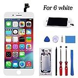 c1e33be5506 KeepTop Pantalla Táctil para iPhone 6 Blanco 4.7''- Reemplazo de Pantalla  LCD Digitalización Asamblea con Herramientas de reparación