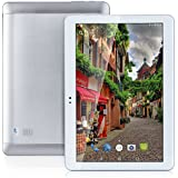 2017 Hot 4 G LTE 10.1 Inch Tablet Octa Core 2560 * 1600 IPS RAM 4 GB ROM 64 GB 4 G Dual SIM Card Phone Call Tablet PC Android 6.0 GPS Electronics Dual Camera 7 9 10 Silvery