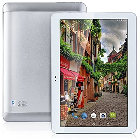 2017Hot 4G LTE 10.1Inch Tablette Octa Core 2560* 1600IPS RAM ROM 4Go 64Go 4G Dual SIM Card Phone Call Tablette PC Android 6.0GPS Electronics Dual Camera 7910Silvery Étui