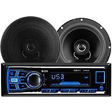 "BOSS AUDIO 636CK Audiopaket mit 610UA Single-DIN AM / FM / MP3 / USB / SD Player Autoradio 200 Watt und ein Paar CK65 6.5"" Zoll 2-Wege-Full-Range Lautsprecher 250 Watt"