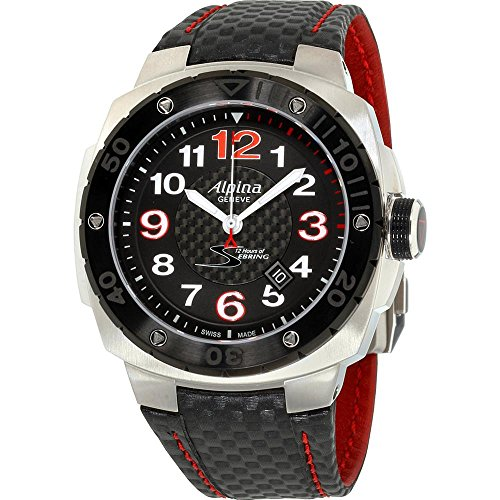 Alpina Men's Racing 47mm Leather Band Steel Case Automatic Watch AL-525BR5AES6