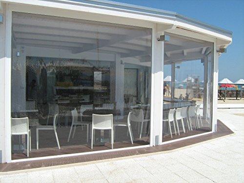 Tende Veranda Trasparenti : Tenda invernale in pvc cristal trasparente modello eolo copertura