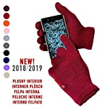 AXELENS Handschuhe Capacitive Berühren Schirm Für Smartphone - Universal Unisex- DUNKELROT/Bordeaux/Granate
