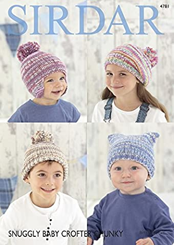 Sirdar Baby & Kinder Hats & Beret Baby Crofter Strickmuster 4781 Chunky