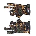 Antirutschpalm 3 Low Cut Finger Angeln Handschuhe 1 Paar Camouflage
