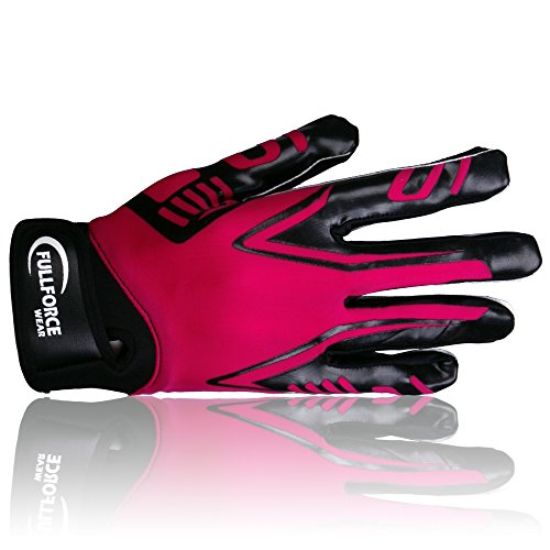 Full Force Titanium Lite American Football Receiver Handschuhe, pink, Gr. L