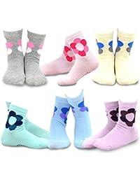 naartjie niños niñas algodón redondo flor corazón Corona calcetines 6Pack