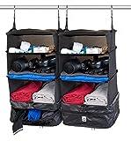 Xcase Reisekoffer-Organizer: 2er-Set XL-Koffer-Organizer, Packwürfel zum Aufhängen, 30 x 64 x 30 cm (Kleider-Tasche)