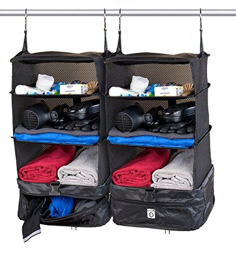 Xcase XXL Koffer Organizer: 2er-Set XL-Koffer-Organizer, Packwürfel zum Aufhängen, 30 x 64 x 30 cm (Reisekoffer-Organizer)