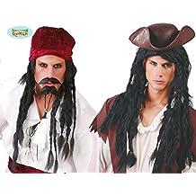 Peluca Rastas largas negra de Pirata