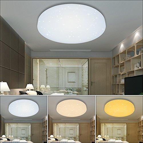HG® 16W LED Deckenleuchte Deckenlampe Farbwechsel Wandlampe rund Deckenbeleuchtung 3in1 Wohnraum Wand-Deckenleuchte Esszimmer Lampe Starlight-Effekt schön Mordern Panel Energiespar Decken EEK A++ Modern Dekor