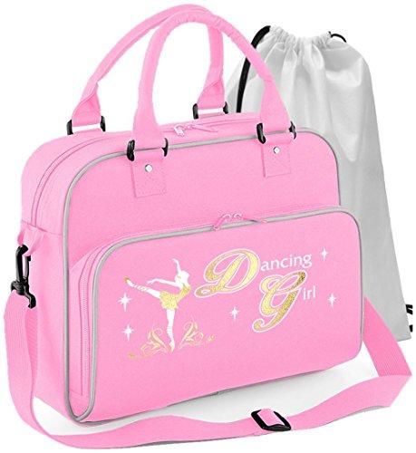 MusicaliTee Ballet Dancer - Dancing Girl - Rosa PINK - Tanztasche & Schuh Tasche Dance Shoe Bags
