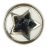 Noosa Chunk Pentagram black/white/silver -powderstone/metal