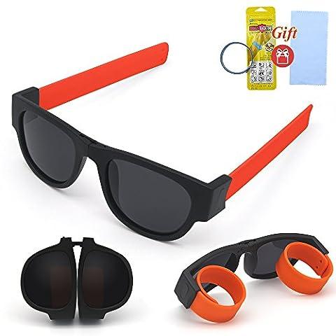 Fashion Polarized Sunglasses Folding and Personality Design UV400 Protection For